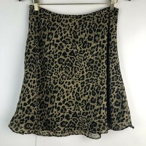 Express Leopard Animal Print Flippy Short Skirt